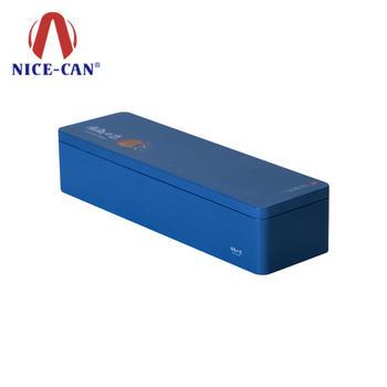 Customized colored rectangular biscuit tin box storage tin box