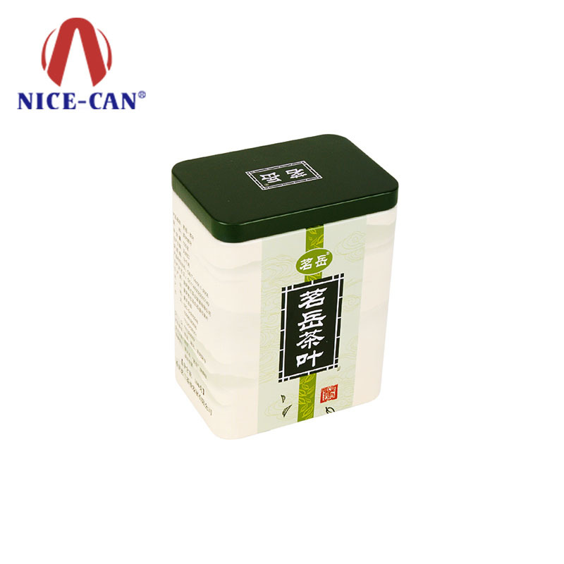 Wholesale custom storage metal gift tea tin can packaging square tea tins box
