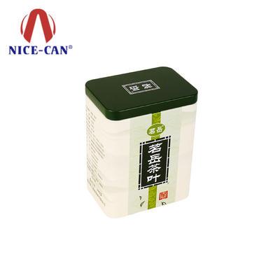 Wholesale custom storage metal gift tea tin can packaging square tea tins box