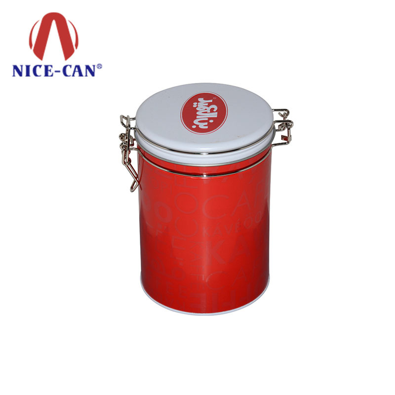Wholesale round empty metal tea tin can container tea tin box