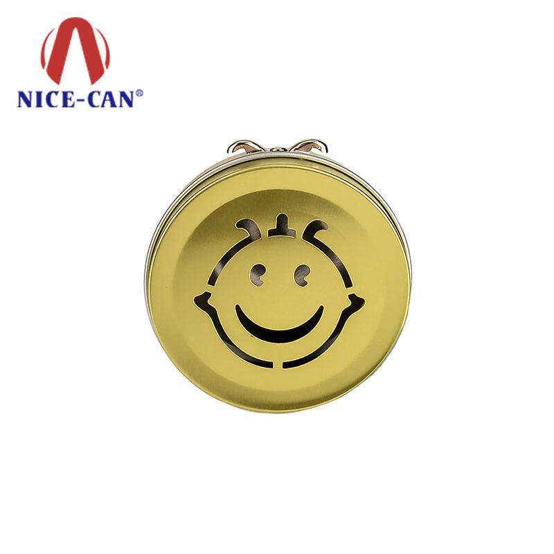 Wholesale custom luxury round candy tin box