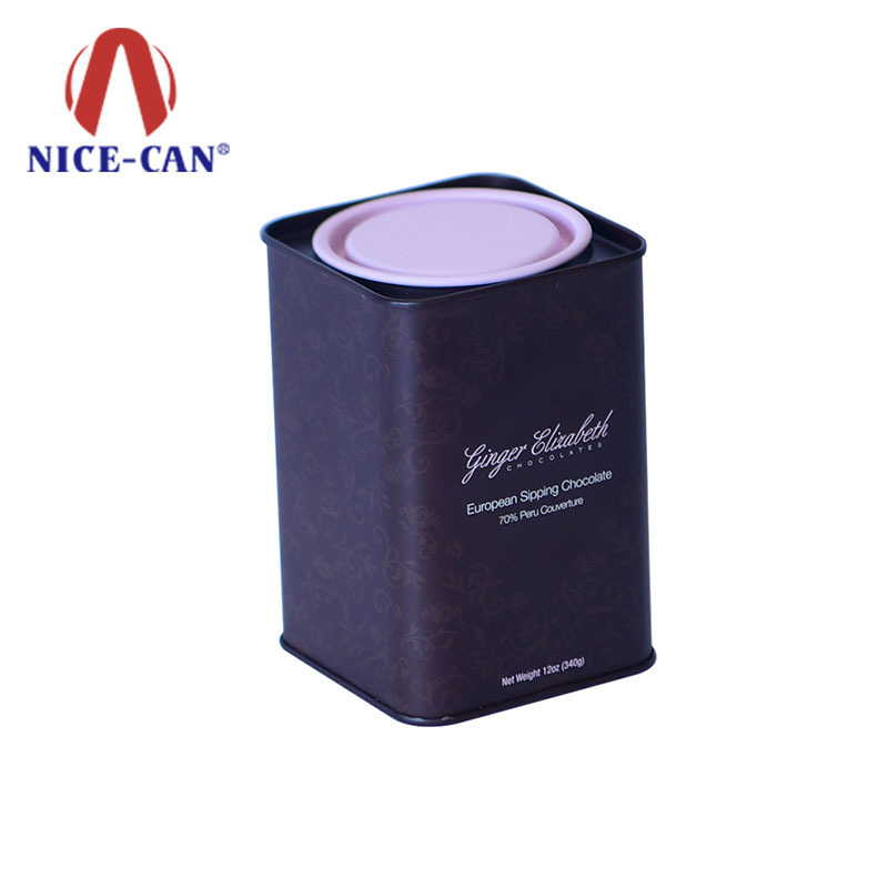 Hot sale square tin box chocolate gift tin box For Friends