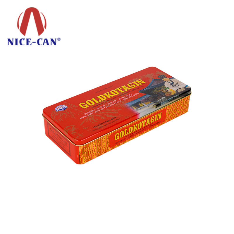 Rectangular food grade tin box custom food packaging tins