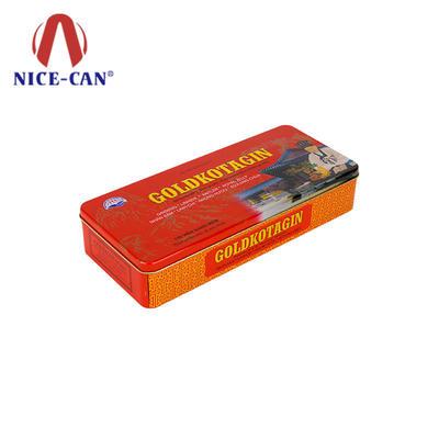 Rectangular food grade tin box custom food packaging tins