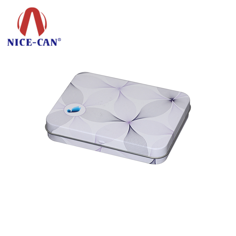 Customized design square metal soap tin box