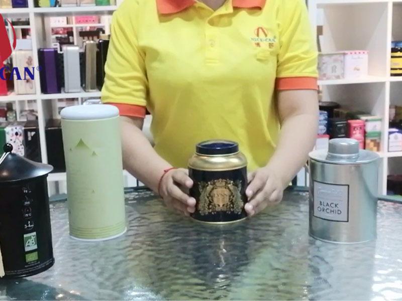 Custom tea gift storage tins supply