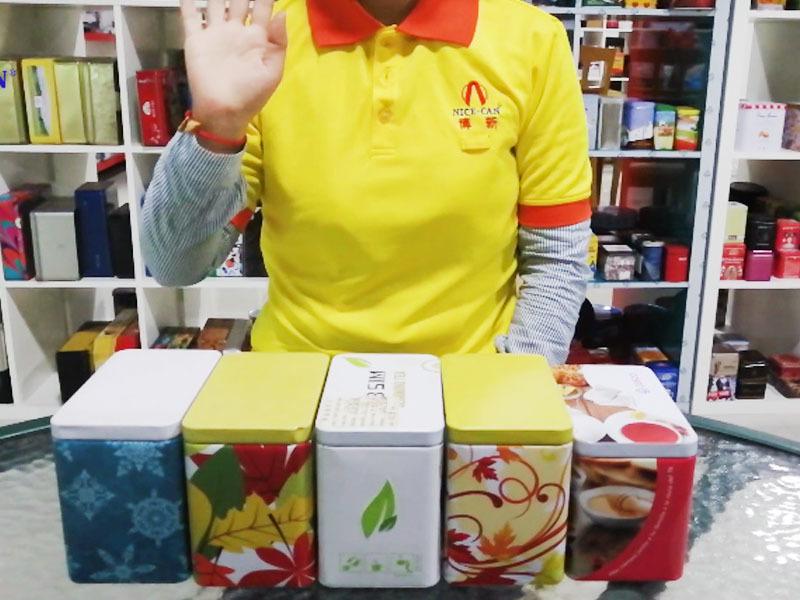 Custom tea bag storage tins supply