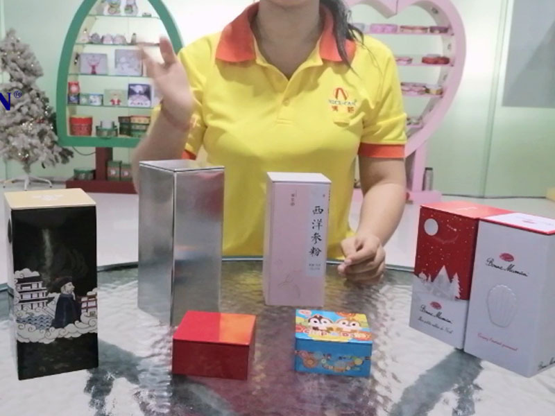 Custom square coffee tea tin box can packaging