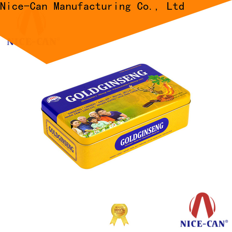 Nice-Can rectangular food packaging tin cans factory for food