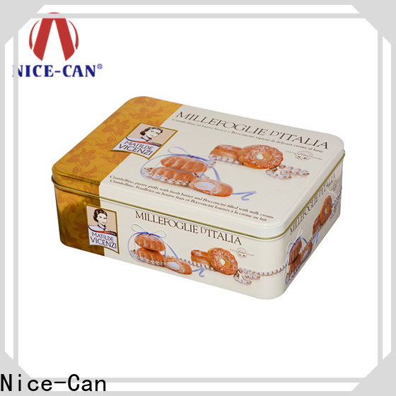 Nice-Can food cookies tin factory for sale
