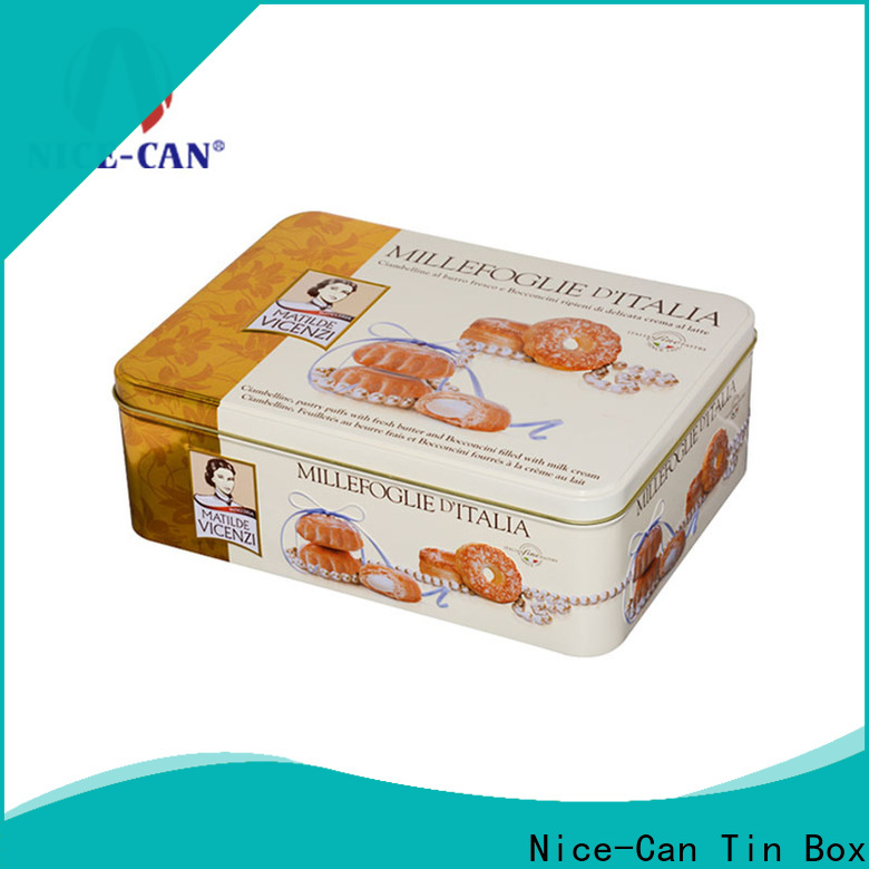 Nice-Can top wholesale cookie tins manufacturers for food packaging