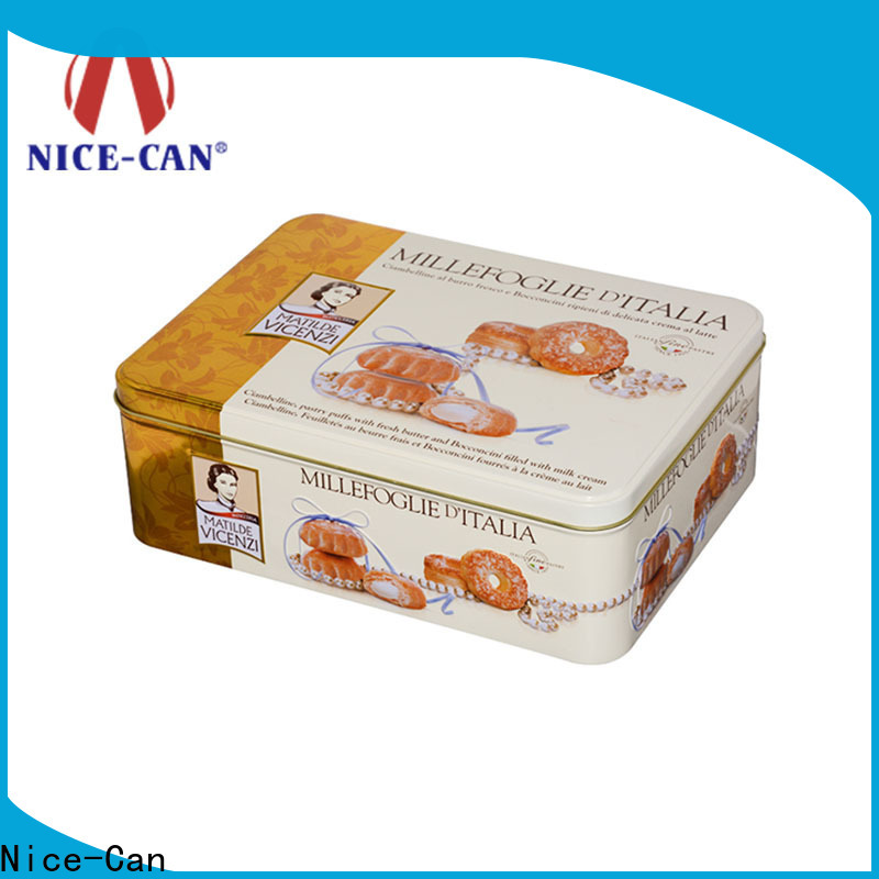 high-quality tin cookie containers factory for food packaging