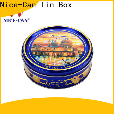 Nice-Can rectangular cookie storage tins with best price for gifts