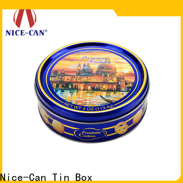 Nice-Can packaging tin cookie containers suppliers for food packaging
