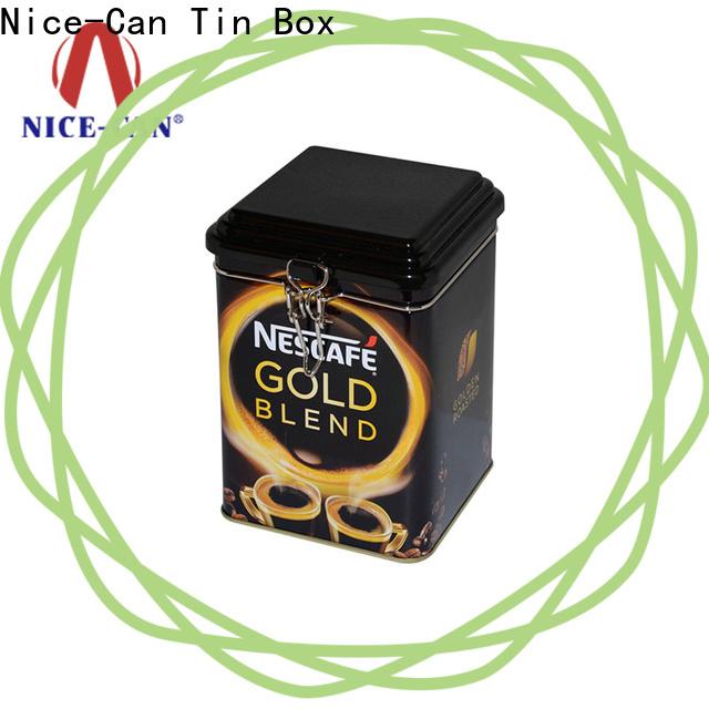 Nice-Can latest coffee tin box with custom printing for restaurant