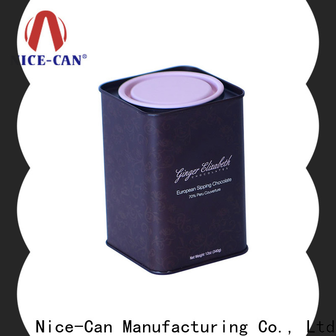 Nice-Can chocolate storage tin supply for presents