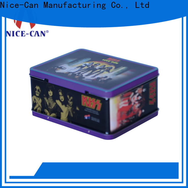 Nice-Can handle custom tin lunch box supply for sale
