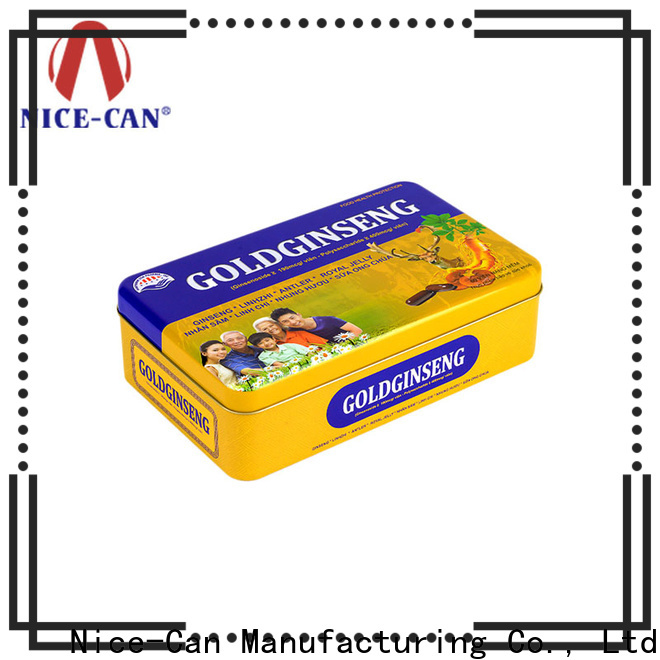 Nice-Can capsule food storage tins supply for business