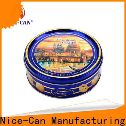 Nice-Can top custom cookie tin for business for food packaging