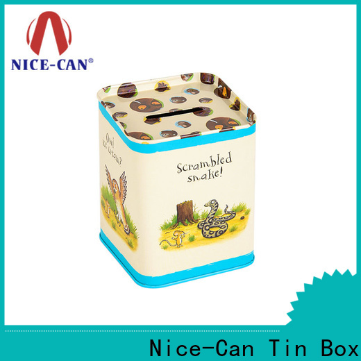 top tin can money box manufacturers for sale