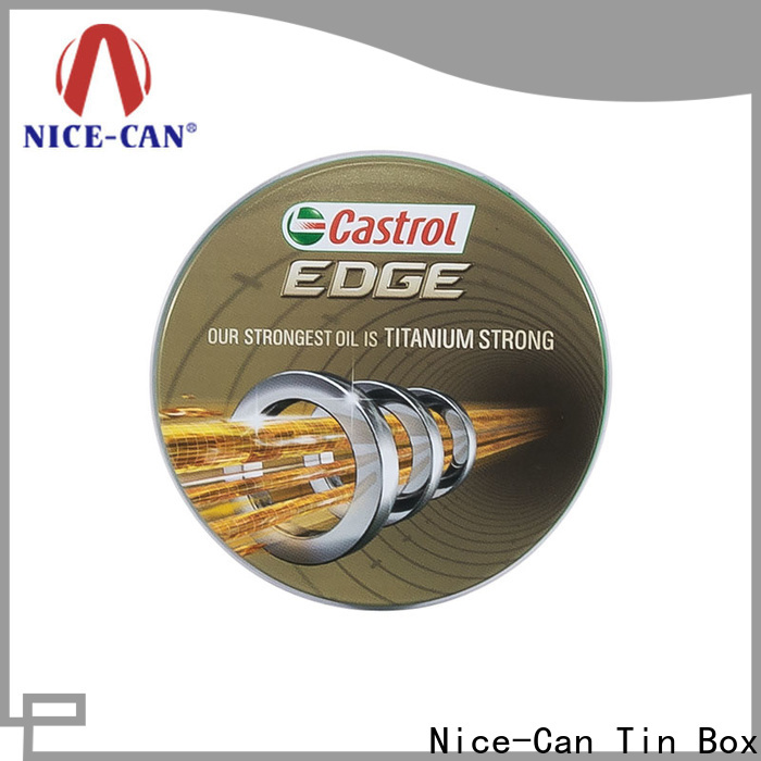 Nice-Can lubricating oil promotional tin suppliers for brand promotion