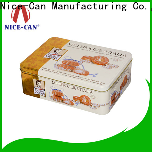 colored custom cookie tin company for food packaging