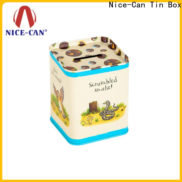 custom tin money box for business for present