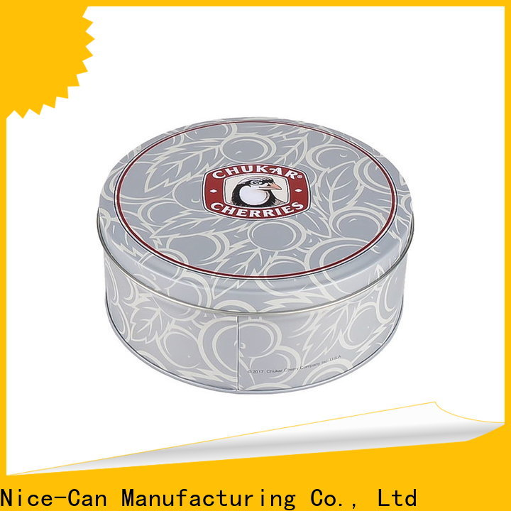 Nice-Can rectangular cookies tin suppliers for food packaging