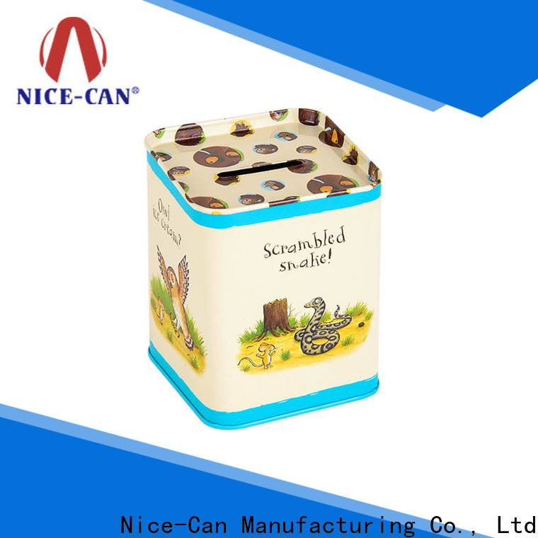 Nice-Can high-quality custom money tins supply for kids