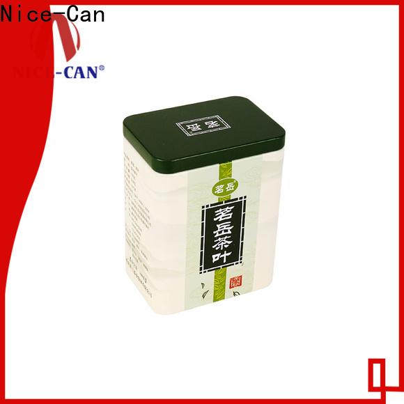 new custom tea tins factory for gift