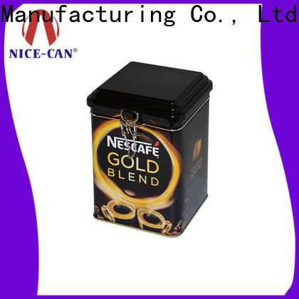 Nice-Can seamless coffee tin box manufacturers for presents
