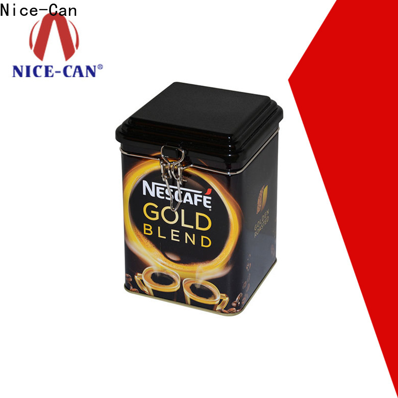 Nice-Can custom coffee tin can with custom logo for restaurant