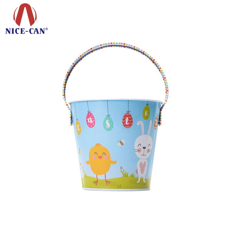 Promotional candy gift packaging kids buckets with handle