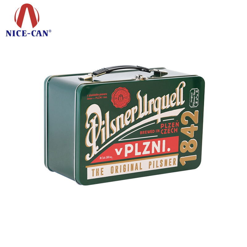 OEM food grade metal cans with lids tin can lunch tin box