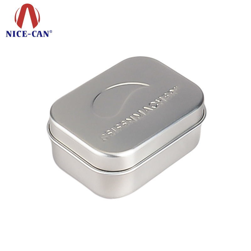 Square shape box for soap tin box with hinge soap tins