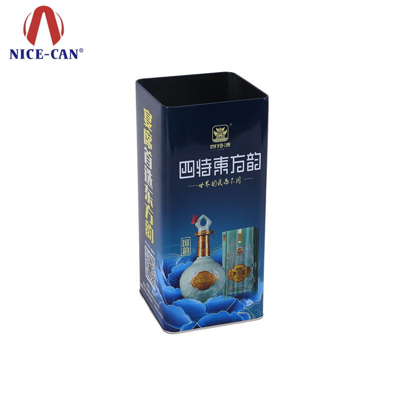 Customized Wine Tin Packing Metal Wine Case Tin Packaging